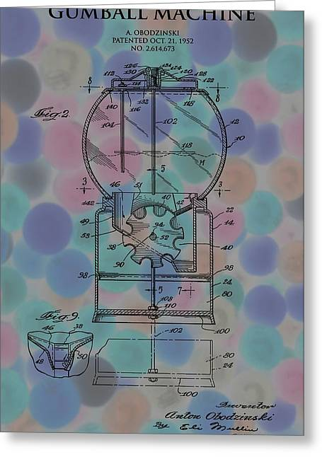 Toy Store Greeting Cards - Gumball Machine Poster 2 Greeting Card by Dan Sproul