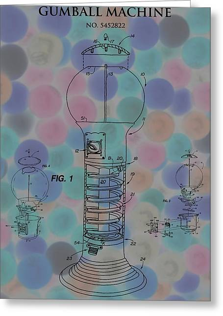 Toy Store Greeting Cards - Gumball Machine Poster Greeting Card by Dan Sproul