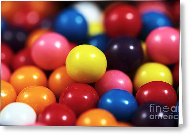 Gumballs Greeting Card by John Rizzuto