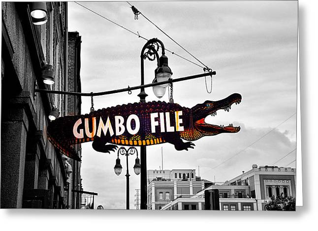 Gumbo Greeting Cards - Gumbo File Greeting Card by Bill Cannon