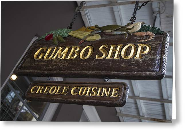 Gumbo Greeting Cards - Gumbo Shop Greeting Card by John McGraw