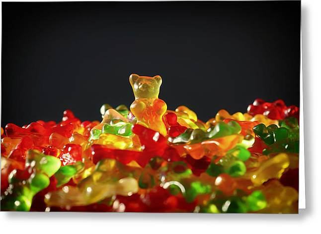 Favorite Treat Greeting Cards - Gummi Bears Greeting Card by Mountain Dreams