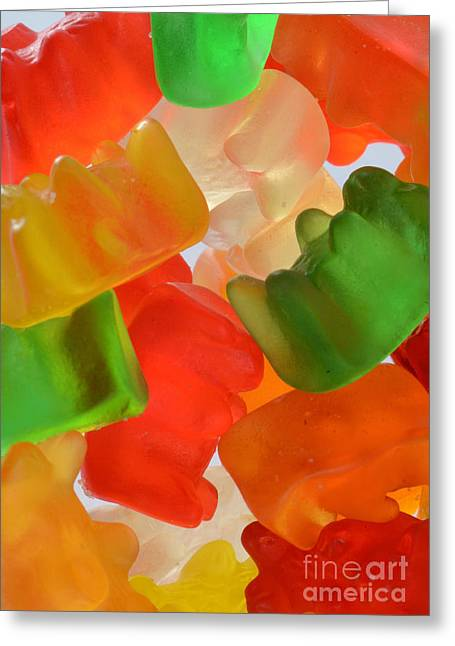 Gummy Candy Greeting Cards - Gummy Bears Greeting Card by Photo Researchers, Inc.