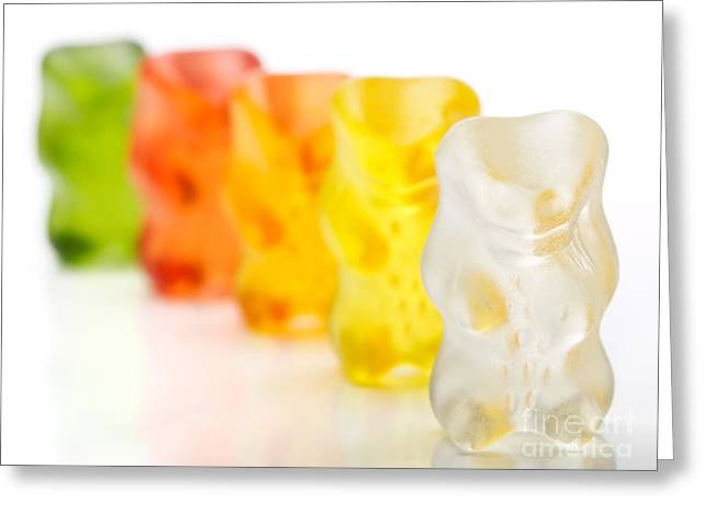 Gummy Candy Greeting Cards - Gummy bears Greeting Card by Sinisa Botas