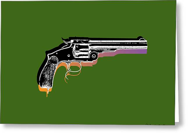 Weapon Mixed Media Greeting Cards - Gun 3 Greeting Card by Mark Ashkenazi