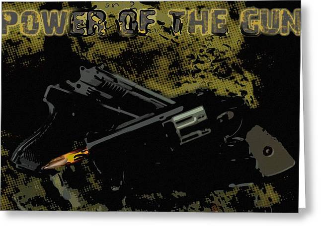 Police Special Greeting Cards - Gun are fired Greeting Card by Toppart Sweden