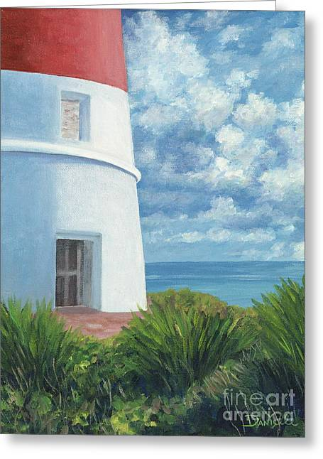 Danielle Perry Greeting Cards - Gun Cay Lighthouse Greeting Card by Danielle  Perry