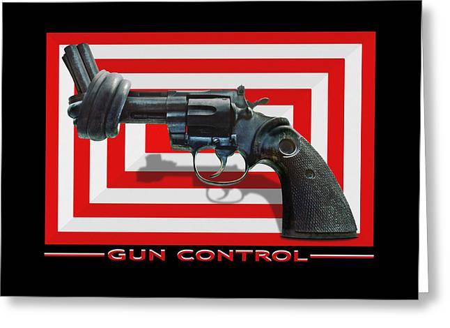 Rectangles Digital Art Greeting Cards - Gun Control Greeting Card by Mike McGlothlen