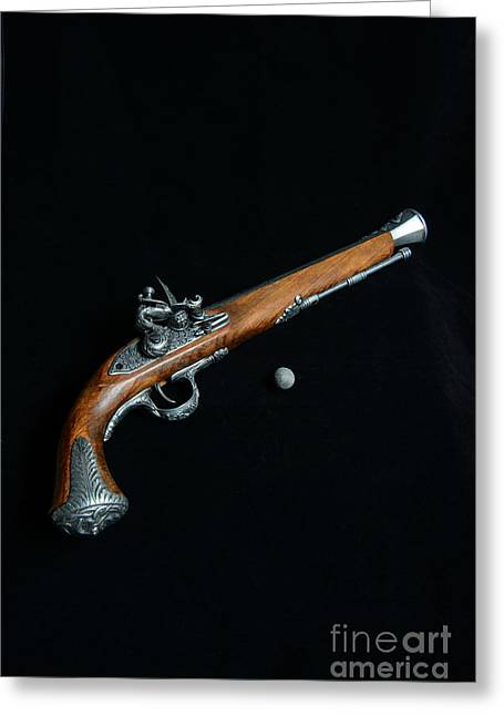 Flintlock Greeting Cards - Gun - Musket with Musket Ball Greeting Card by Paul Ward