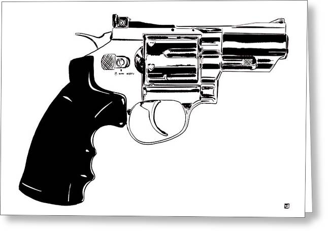 Pistol Greeting Cards - Gun Number 27 Greeting Card by Giuseppe Cristiano