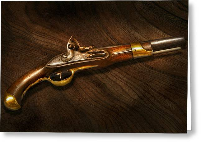 Trappers Greeting Cards - Gun - Pistols at dawn Greeting Card by Mike Savad