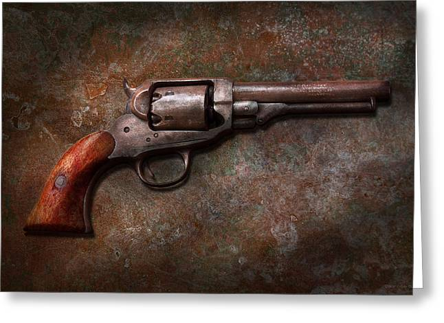 Gunsmith Greeting Cards - Gun - Police - Dance for me Greeting Card by Mike Savad