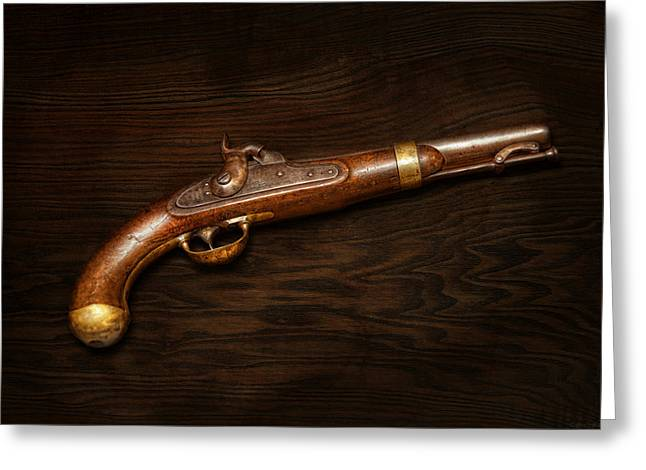 Guns Photographs Greeting Cards - Gun - US Pistol Model 1842 Greeting Card by Mike Savad