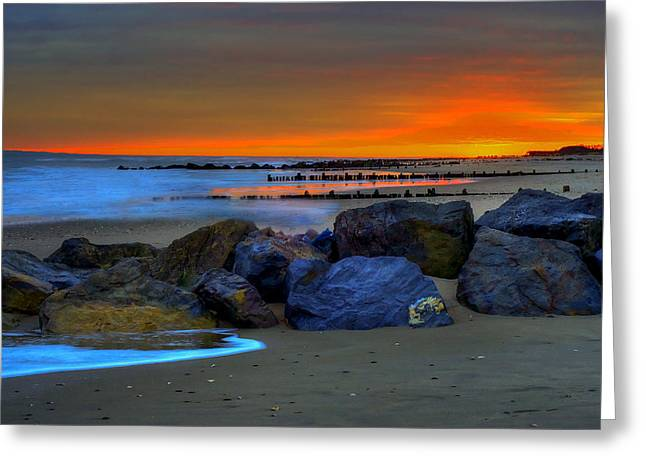 Gunmetal Greeting Cards - Gunmetal Sunset Greeting Card by Mike  Deutsch