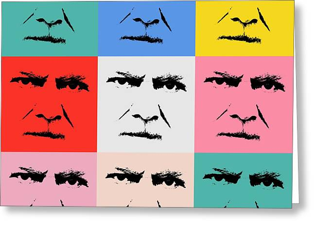 Saw Greeting Cards - Gunnar Hansenpopart Greeting Card by Toppart Sweden