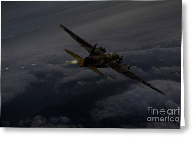 Wellingtons Greeting Cards - Gunners call - No 16 OTU Greeting Card by Gary Eason