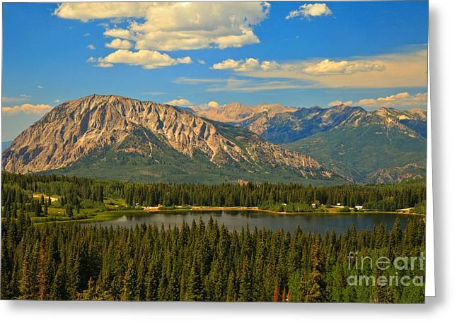 Lost Lake Greeting Cards - Gunnison High Mountain Lake Greeting Card by Adam Jewell