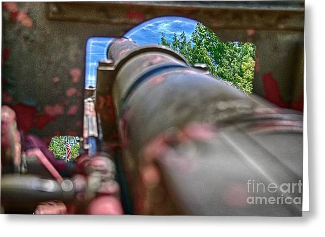 Ken Williams Greeting Cards - Guns and Glory Greeting Card by Ken Williams