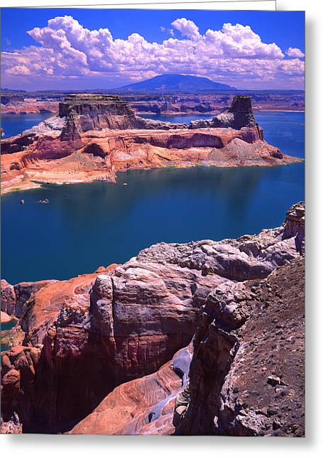 Glen Canyon National Recreation Area Greeting Cards - Gunsight Butte Greeting Card by Ray Mathis