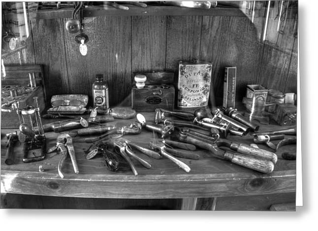 Gunsmith Greeting Cards - Gunsmith Workshop v2 Greeting Card by John Straton