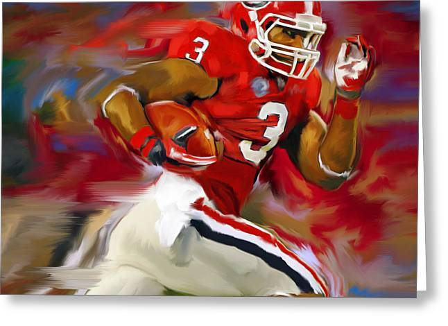 Sec Paintings Greeting Cards - Gurley Man Greeting Card by Steven Lester