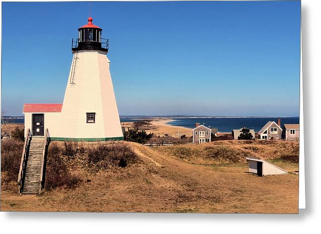 Gurnet Light Greeting Cards - Gurnet Lighthouse Greeting Card by Janice Drew