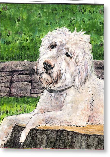Hand Painted Ceramics Greeting Cards - Gus Greeting Card by Dy Witt