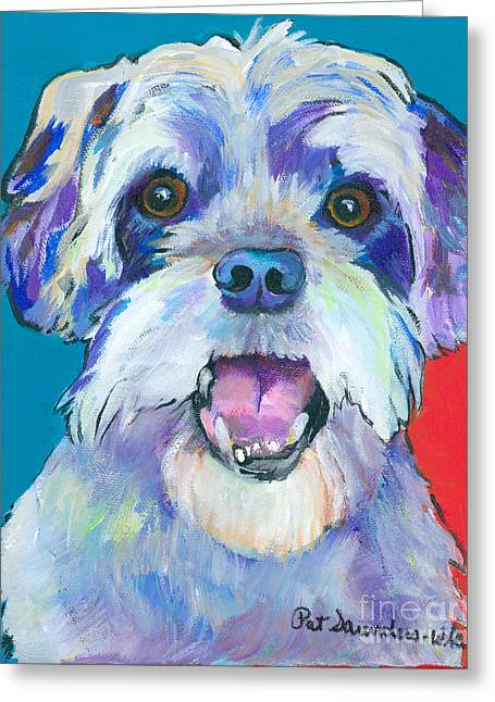 Greeting Cards - Gus Greeting Card by Pat Saunders-White