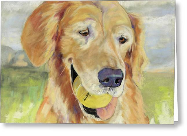 Friend Pastels Greeting Cards - Gus Greeting Card by Pat Saunders-White