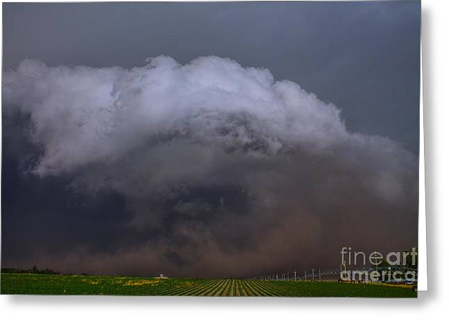 Storm Chasing Greeting Cards - Gust Front Greeting Card by Francis Lavigne-Theriault