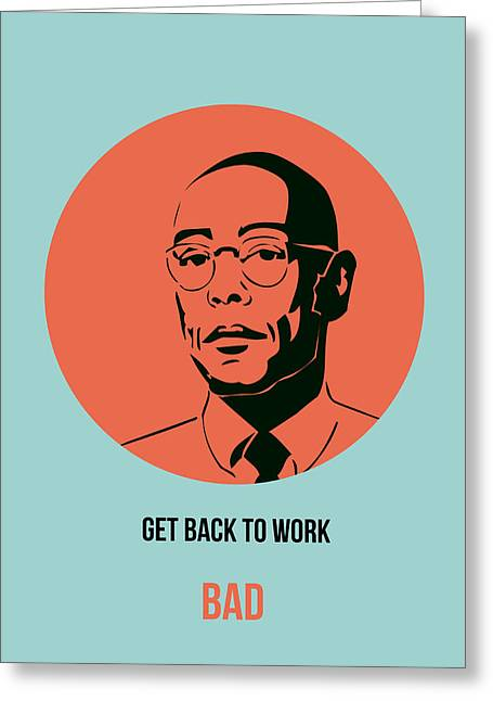 Shows Greeting Cards - Gustavo Fring Poster 1 Greeting Card by Naxart Studio