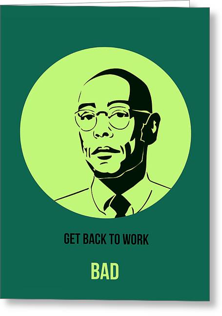 Shows Greeting Cards - Gustavo Fring Poster 2 Greeting Card by Naxart Studio