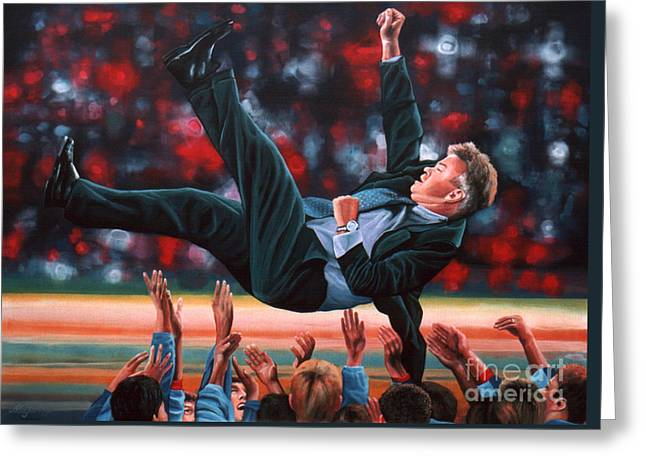 National Football League Paintings Greeting Cards - Guus Hiddink Greeting Card by Paul Meijering