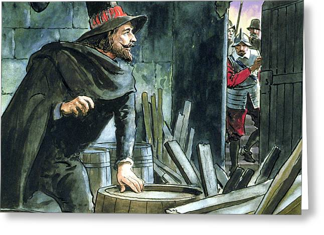Guy Fawkes, From Peeps Into The Past Greeting Card by Trelleek