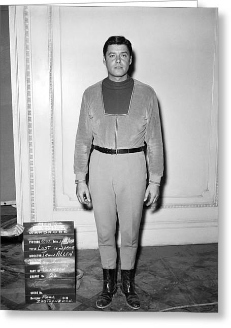 Lose Greeting Cards - Guy Williams in Lost in Space  Greeting Card by Silver Screen