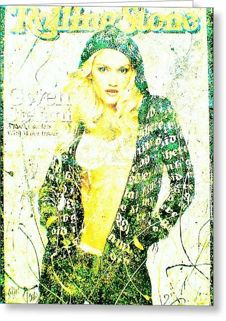 Gwen Stefani Paintings Greeting Cards - Gwen Greeting Card by Chris Cloud