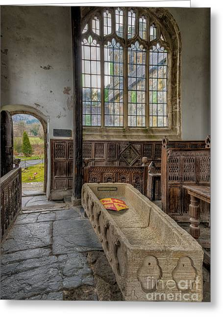 Coffin Greeting Cards - Gwydir Chapel Greeting Card by Adrian Evans