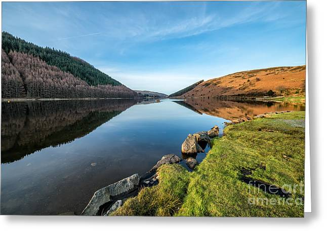 Gwydyr Forest Lake Greeting Card by Adrian Evans