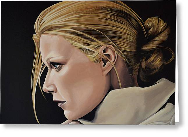 Gwyneth Paltrow Greeting Card by Paul Meijering