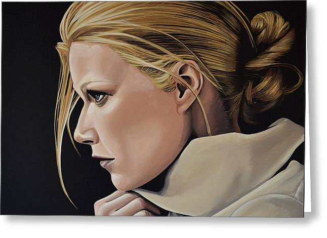 Gwyneth Paltrow Painting Greeting Card by Paul Meijering