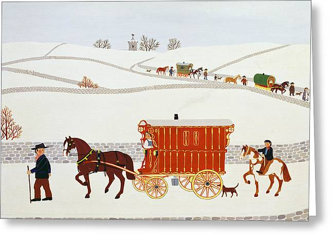 December 25th Greeting Cards - Gypsy Caravan Greeting Card by Vincent Haddelsey