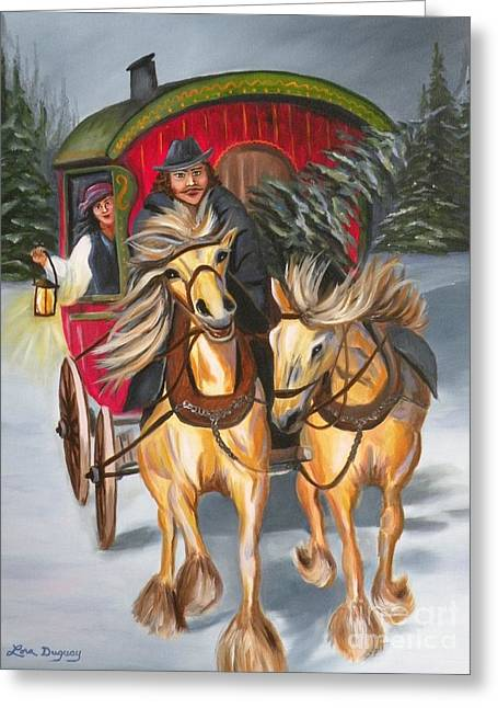 Gypsy Greeting Cards - Gypsy Christmas Greeting Card by Lora Duguay