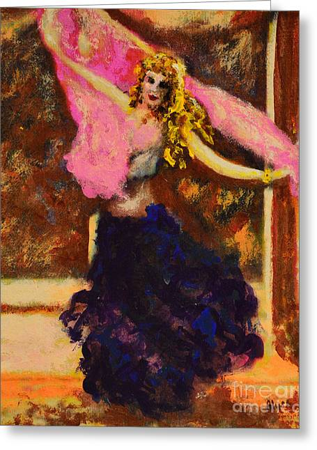 Empowerment Greeting Cards - Gypsy Dancer Greeting Card by Alys Caviness-Gober