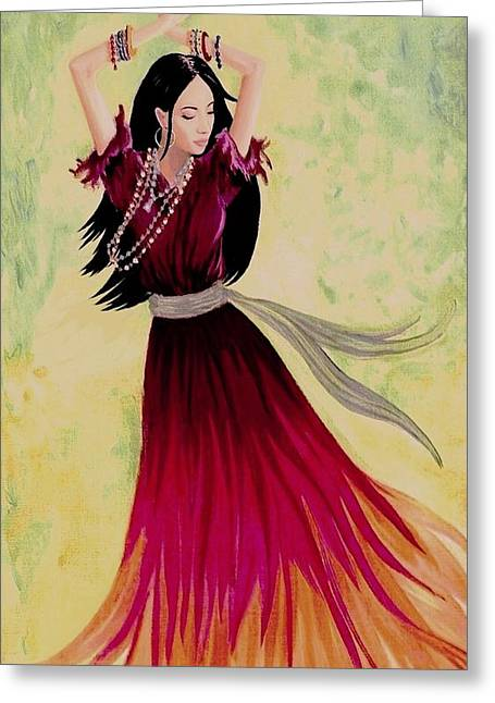 Gypsy Greeting Cards - Gypsy Dancer Greeting Card by SophiaArt Gallery