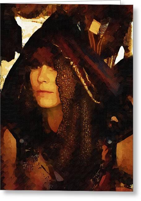 Gypsy Greeting Cards - Gypsy Daughter Greeting Card by Cindy Nunn