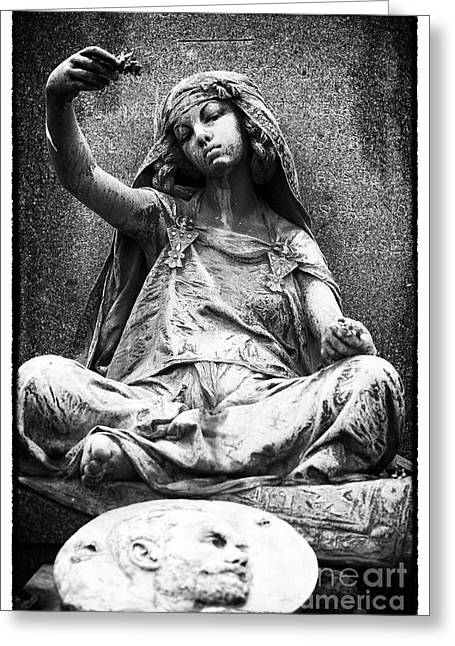 Cemeteries Of Paris Greeting Cards - Gypsy Girl Greeting Card by John Rizzuto