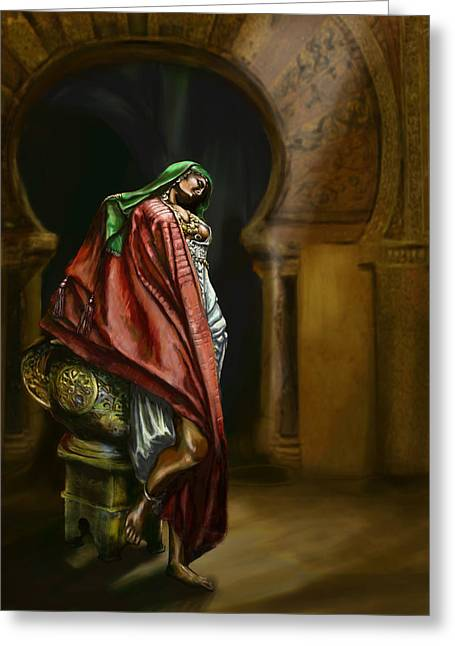 Gypsy Greeting Cards - Syrian Princess Greeting Card by Matt Kedzierski