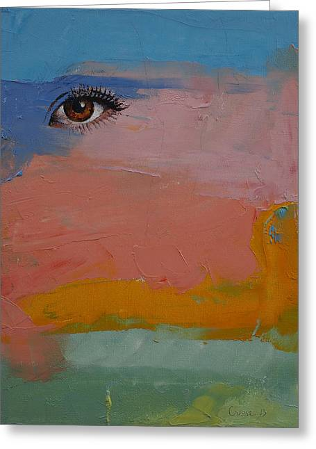 Eyelash Greeting Cards - Gypsy Greeting Card by Michael Creese