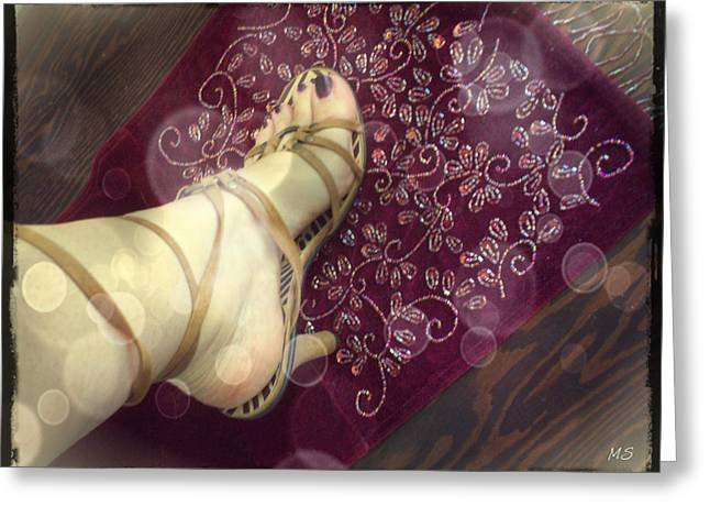 Gypsy Shoes Greeting Card by Absinthe Art By Michelle LeAnn Scott