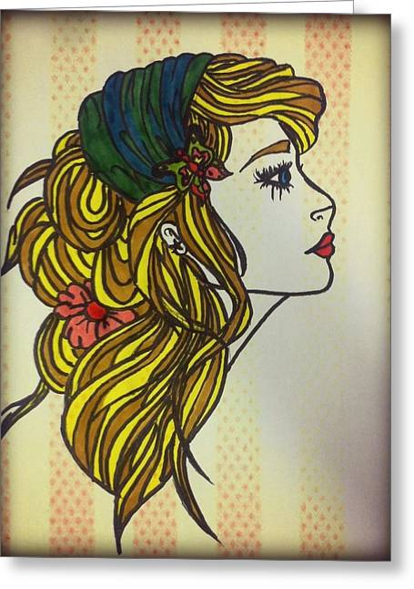 Gypsy Mixed Media Greeting Cards - Gypsy soul Greeting Card by Leighann Taylor